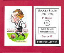 Newcastle United Ralph Birkett 35 (FC) (R)